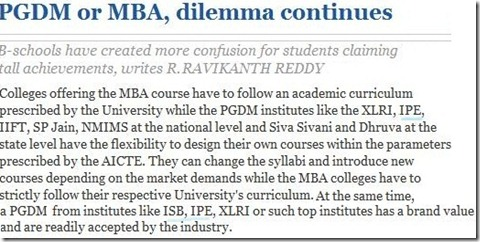 PGDM or MBA, dilemma continues